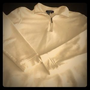CHAPS White pull  over size Large